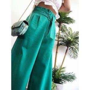 Pants - 🆕Bede Green High Waist Wide Leg Cropped Pant